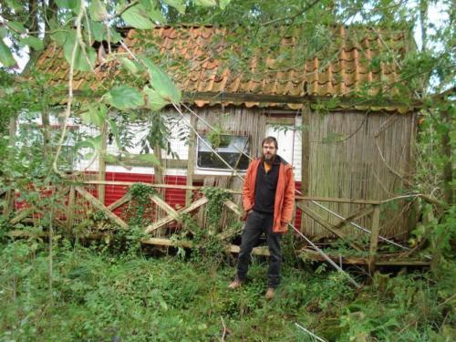 Bart in tuin in Groningen